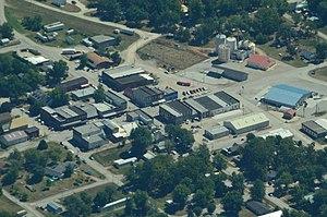 Jamesport, Missouri - Aerial view of Jamesport, Missouri