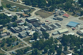 Jamesport, Missouri - Aerial view of Jamesport, Missouri
