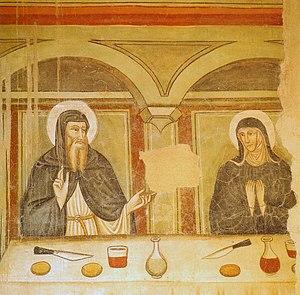 Montevarchi - 14th-century fresco in La Ginestra Monastery.