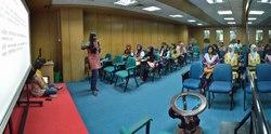 Afifa Afrin Discussing - Women Involvement in Bengali Wikipedia - Bengali Wikipedia 10th Anniversary Celebration - Daffodil International University - Dhaka 2015-05-30 1629-1634.tif