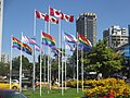 After gay pride, rainbow flags flying along Beach Street (14853144744).jpg