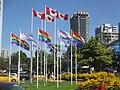 After gay pride, rainbow flags flying along Beach Street (14853144744).jpg