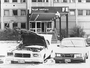 Aftermath of the 1981 Red Army Faction bombing...
