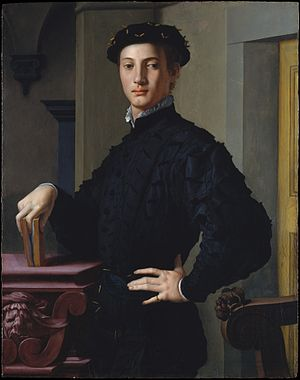 Portrait of a Young Man with a Book - Image: Agnolo Bronzino Portrait of a Young Man