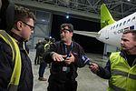 AirBaltic Bombardier CS300 mainenance (33221384165).jpg
