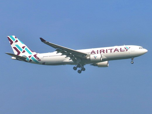 Airbus A330 of Sardinian airline Air Italy at JFK Airport New York Air Italy (2018) Airbus A330-202 EI-GFX approaching JFK Airport.jpg