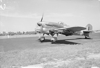 No. 164 Squadron RAF - Image: Aircraft of the Royal Air Force 1939 1945 Hawker Typhoon. CH13344