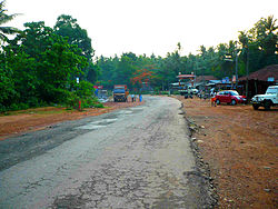 Karnataka SH1 towards Karkala at Ajekar