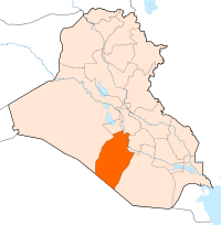 Location of Província de An-Najaf