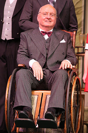 Alan Jones (radio broadcaster) - Jones as Franklin Delano Roosevelt in the musical Annie