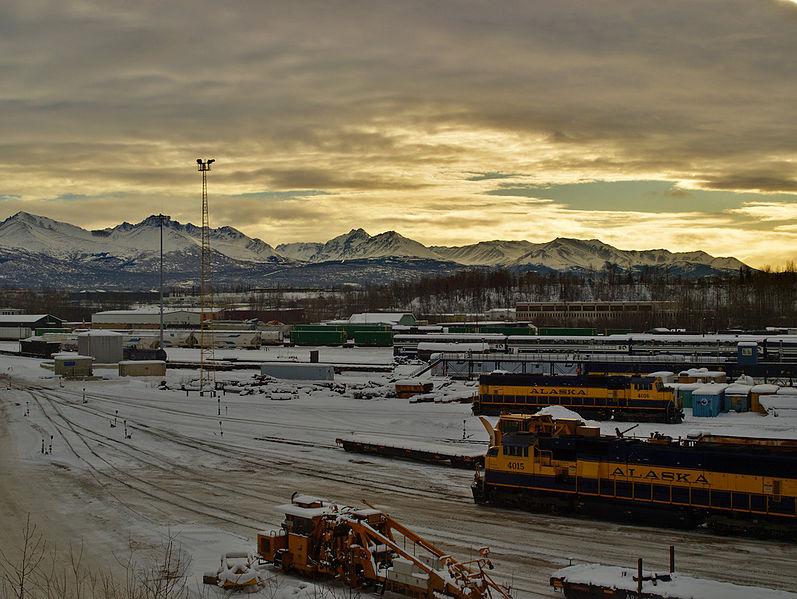 File:Alaska Railroad yard in Anchorage.jpg