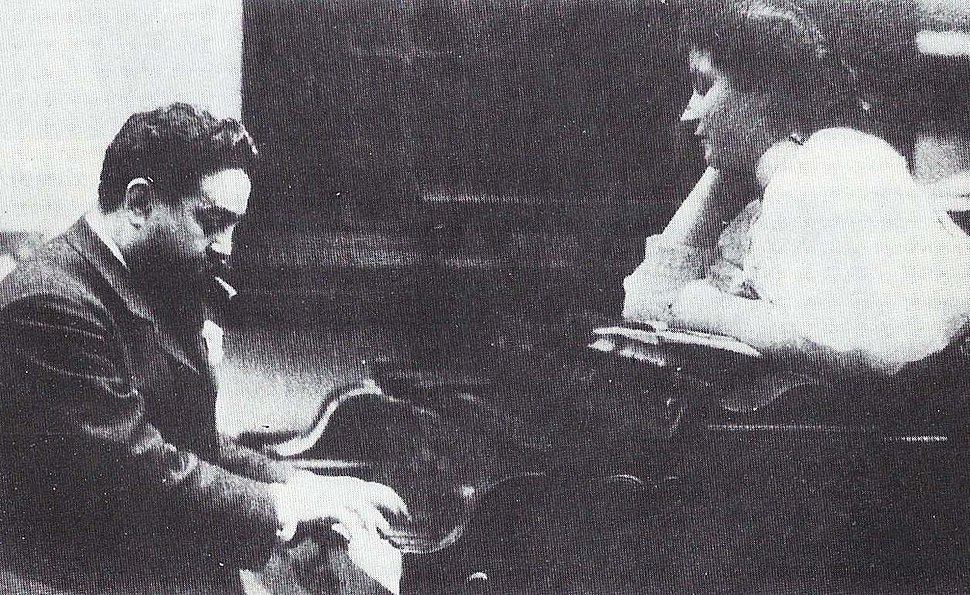 Albéniz with his daughter Laura