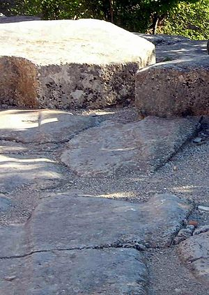 Archeological site of Alba-la-Romaine -  Paved Way