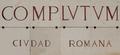 Alcalá de Henares (RPS 31-08-2014) Complutum, ciudad romana, lápida.png