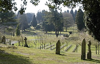 Aldershot Military Cemetery - View of Aldershot Military Cemetery