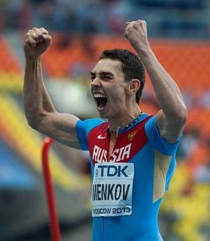 2013 World Championships in Athletics – Men's long jump - Gold medalist Aleksandr Menkov from Russia