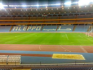 Aleppo International Stadium, night view, 2010 (2).jpg