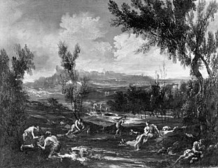 Arcadian Landscape with Figures