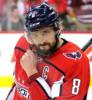 Alexander Ovechkin Russian ice hockey player