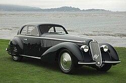 Papercraft del Alfa Romeo 1938 8C 2900B.