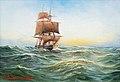 Alfred Jensen - Dreimaster auf See.jpg