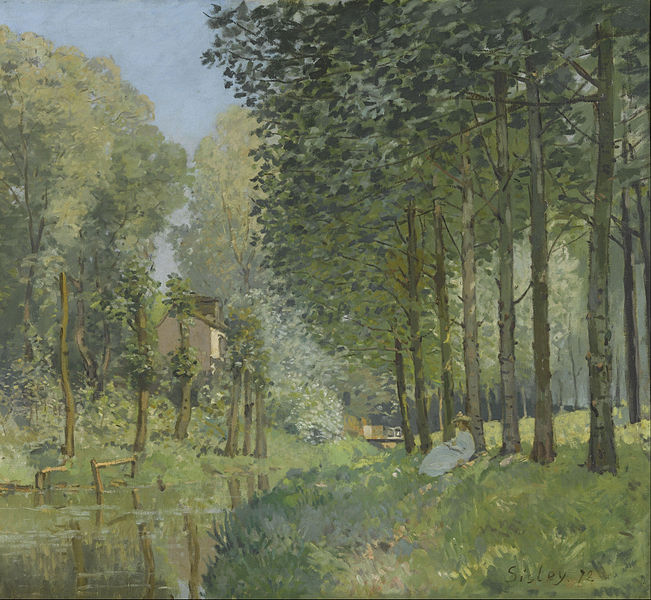 File:Alfred Sisley - Rest along the Stream. Edge of the Wood - Google Art Project.jpg