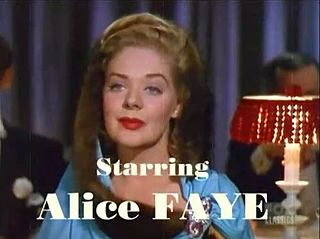 Alice Faye American actress and singer