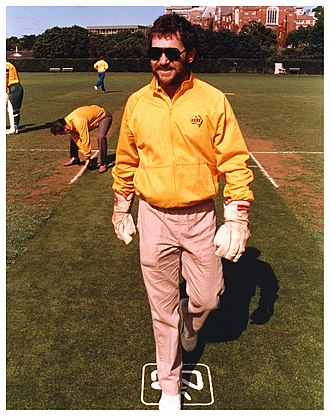 Allan Border - Allan Border in Wellington,1986