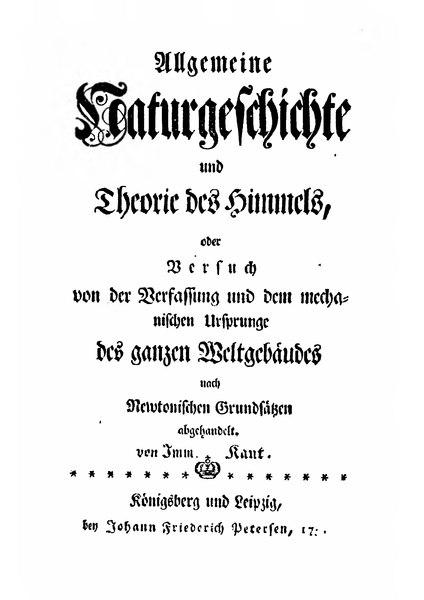 File:Allgemeine Naturgeschichte und Theorie des Himmels.djvu
