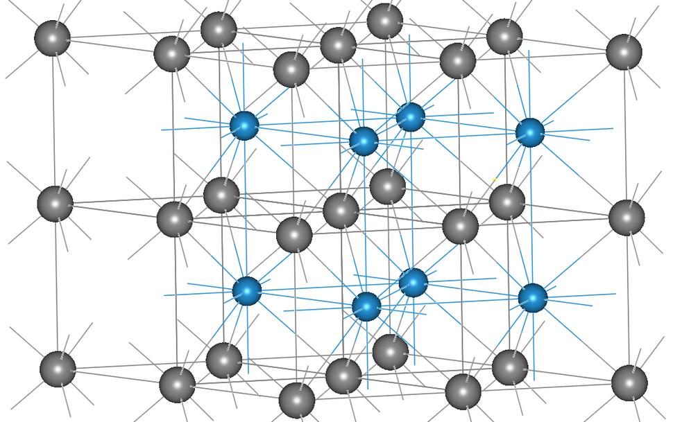 Alpha tungsten carbide crystal structure