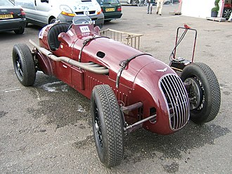 Alta Car and Engineering Company - A pre-war Alta competition model in circuit racing trim.