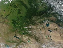 Montes Altai Mapa Fisico.Macizo De Altai Wikipedia La Enciclopedia Libre