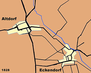 Alteckendorf - Alteckendorf in 1760 and 1828