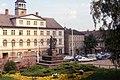 Altmarkt, Zeitz DDR May 1990 - Das Gewandhaus (3831432686).jpg