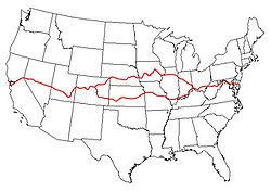 American Discovery Trail Wikipedia - Us hiking trails map