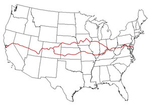 American Discovery Trail - The American Discovery Trail, including its northern and southern routes.