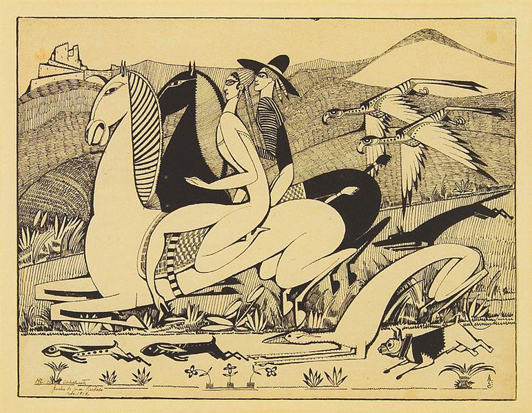 File:Amadeo de Souza-Cardoso, The Hawks, 1912, indian ink on paper, 27 x 24,3 cm.jpg