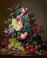 Amalie Kaercher Blumenstillleben mit Früchten 1862.jpg