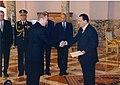 Ambassador of the Republic of Estonia to the Arab Republic of Egypt Paul Teesalu presented his credentials to Egyptian President Muhammad Hosni Mubarak, 5th Nov (5245683111).jpg