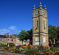 Amble-clock-and-flag.jpg
