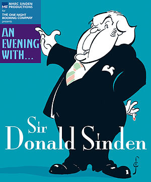 Donald Sinden - Production poster for  An Evening with... Sir Donald Sinden