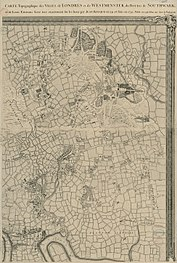 An Exact Survey of the citys of London Westminster ye Borough of Southwark and the Country near ten miles round (3 of 6).jpg