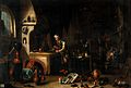 An alchemist in his laboratory. Oil painting by a follower o Wellcome V0017678.jpg