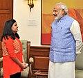 Ananya Sritam Nanda, winner of Indian Idol Junior, calls on Prime Minister Narendra Modi.jpg