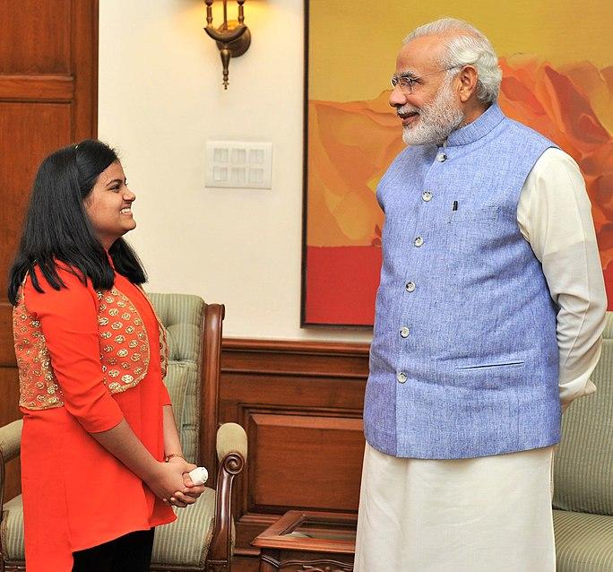 Ananya Sritam Nanda, winner of Indian Idol Junior, calls on Prime Minister Narendra Modi