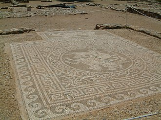 Chalkidiki - Mosaic in ancient Olynthus