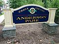 Anderson Park, Essex County Park Sign IMG 20140830 135647.jpg