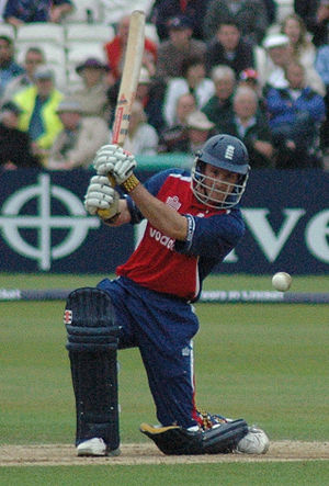 2005 English cricket season - Andrew Strauss batting for England during the NatWest Series