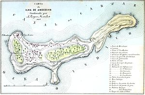 Anjediva Island - A map of Anjediva in 1885