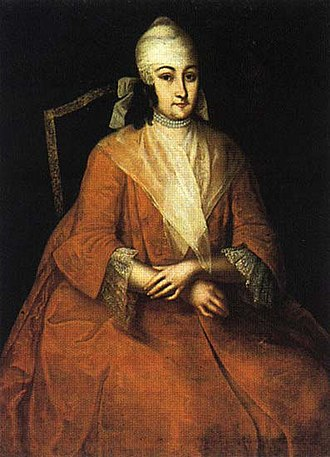 Ivan Vishnyakov - Image: Anna Leopoldovna in orange dress by I.Vishnyakov (1740s, Russian museum)